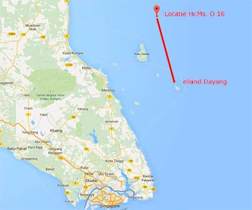 kaart dyang singapore duikboot O 16