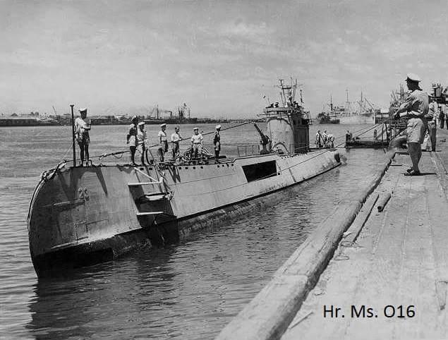O 16 onderzeeër duikboot haven den helder